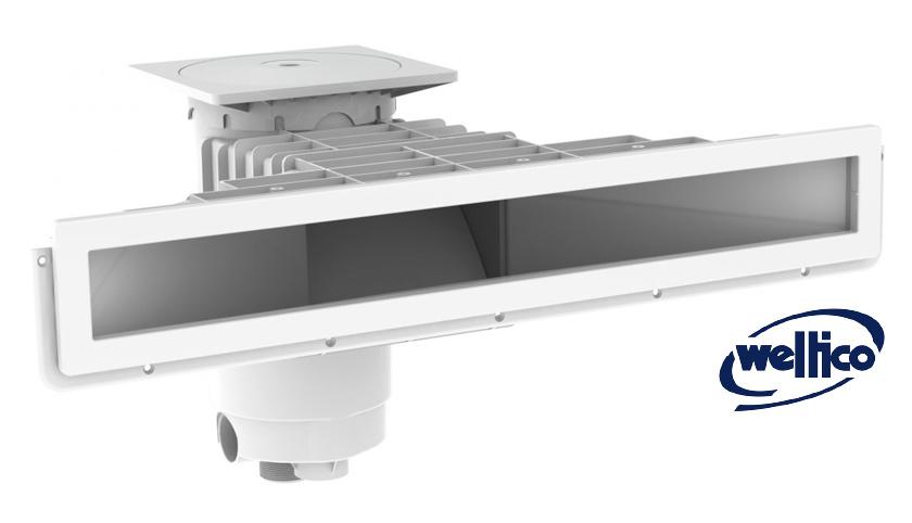 Skimmer el gance a800 weltico en abs compatible avec tout for Piscine miroir avec skimmer